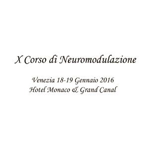 X Corso di Neuromodulazione 2016