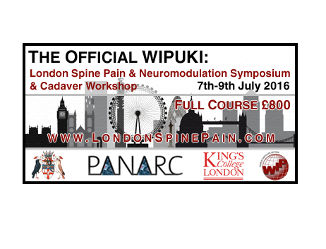 London Spine Pain Lecture Day & Cadaver Workshop