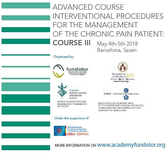 Interventional Procedures for the management of the chronic pain patient: Course III